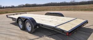 Wood Floor Flat Bed Trailer