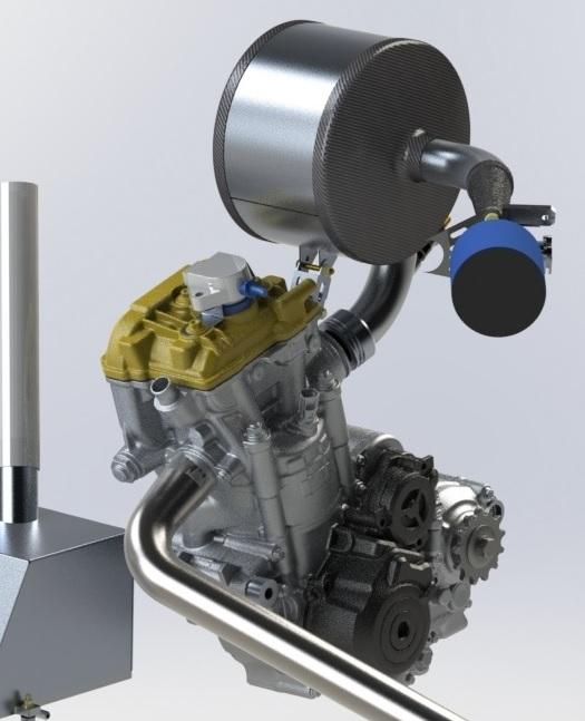 2013 KTM 350SFX used in FSAE