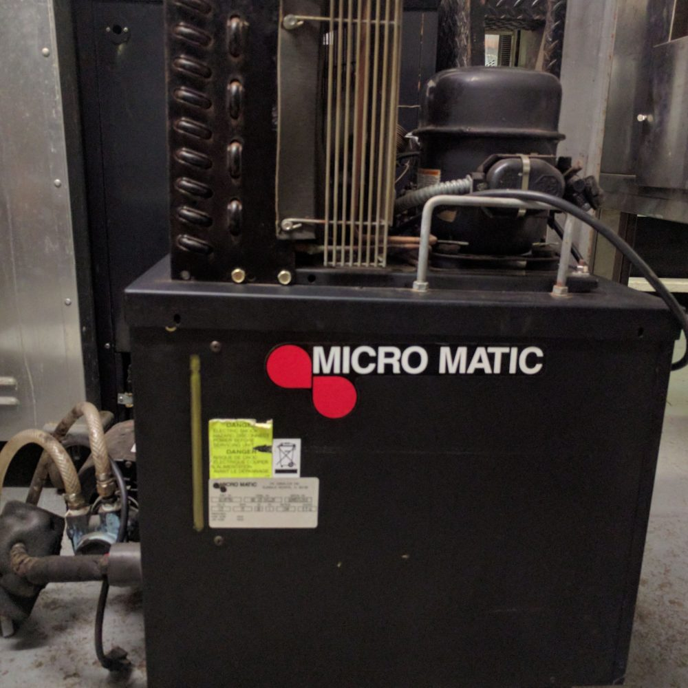 Front view of Micromatic beer tap chiller machine