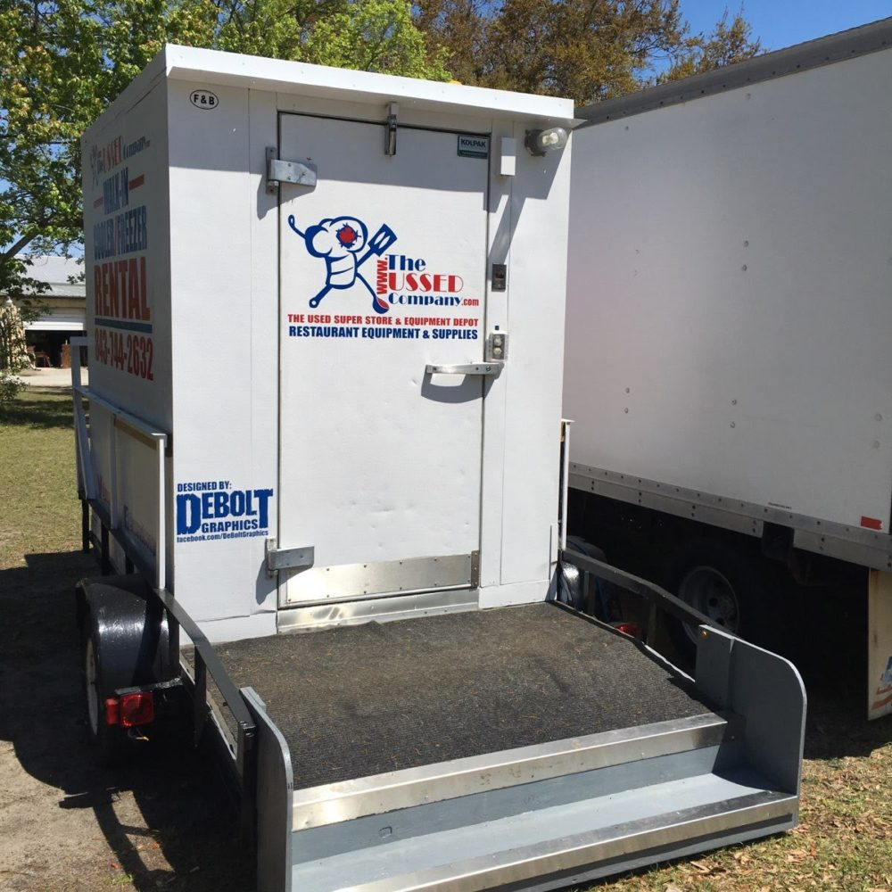 back view FOR RENT 6'x8' USSED Company Walk-in Cooler