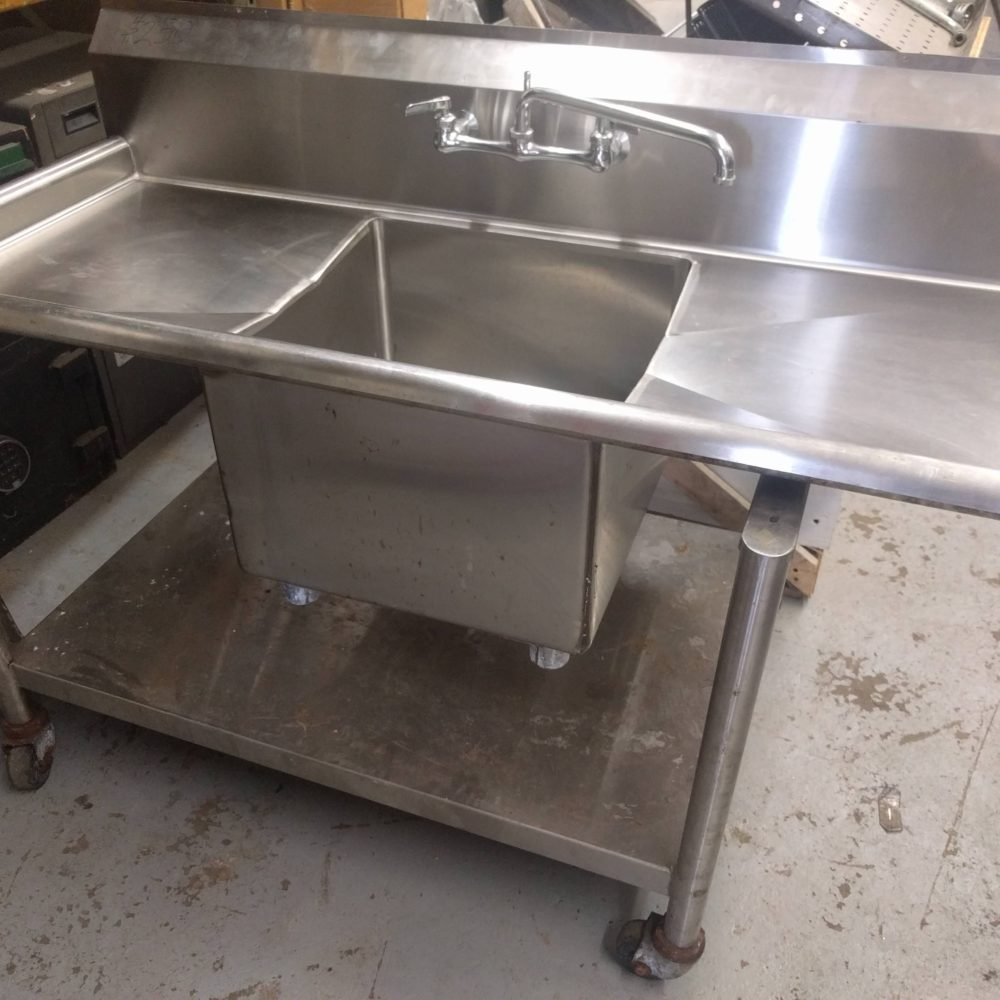 Full view single compartment sink