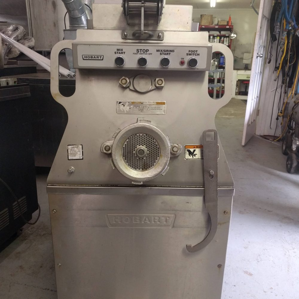 front view Used hobart MG2032 meat grinder
