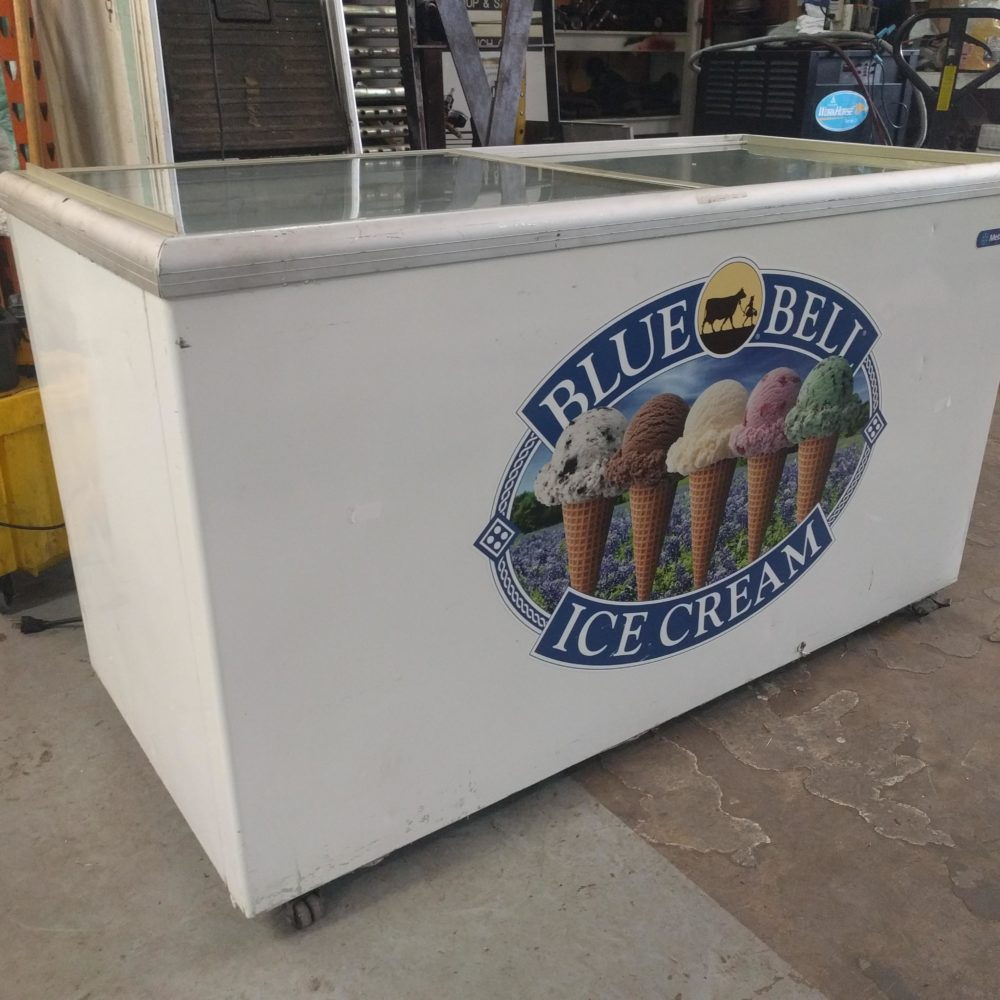 full view Used MetalFrio Novelty Ice Cream Container