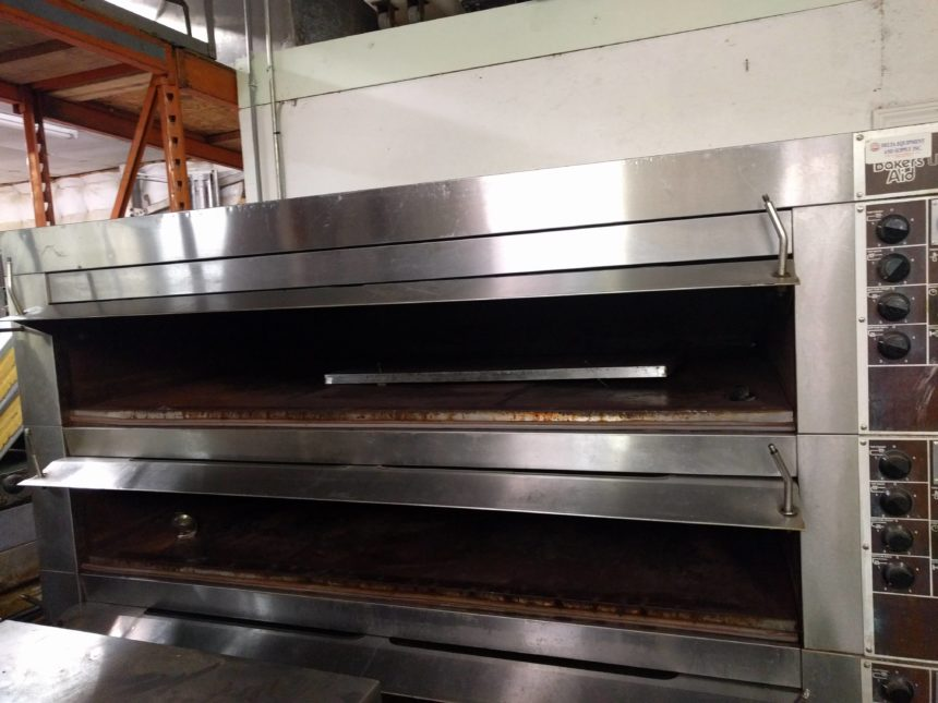 inside USED Bakers Aid ULTRA Triple Deck Oven