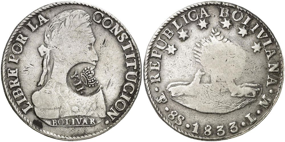 Republic of Bolivia - Coins Countermarked Philippines