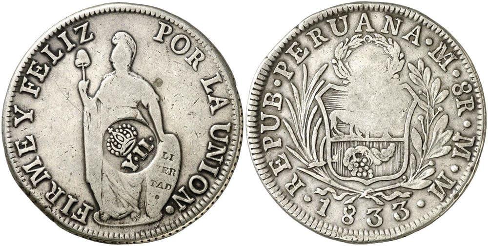 Republic of Peru - Philippine Resealed Coin