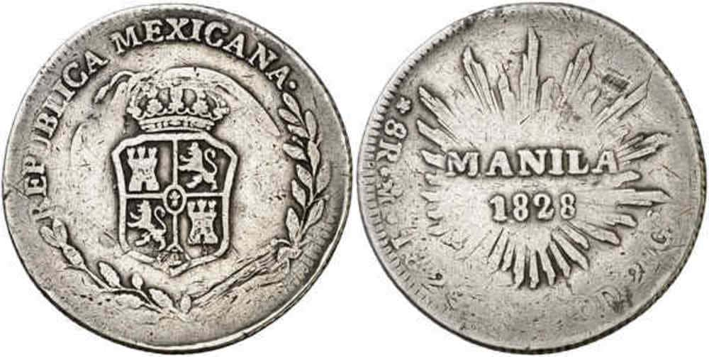 Republic of Mexico Durando - Coins Countermarked Philippines