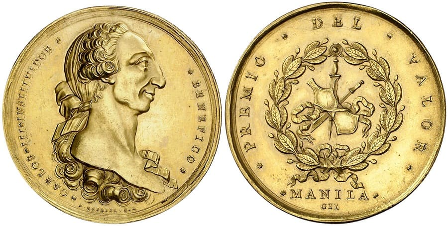 Carlos III of Spain - Philippine Resealed Coin