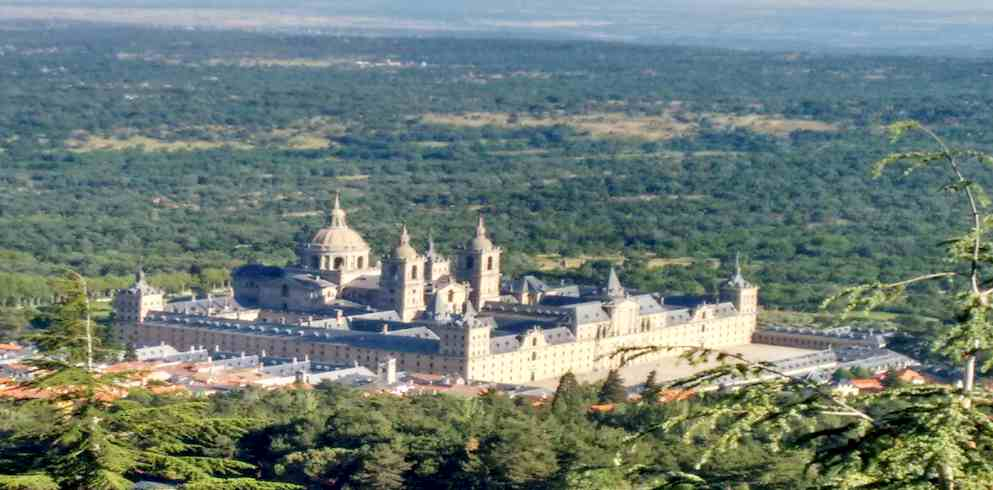 Royal Palace San Lorenzo del Escorial landscape-* One day in Madrid