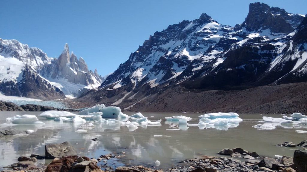 Laguna Torre Glacier at The End of the World