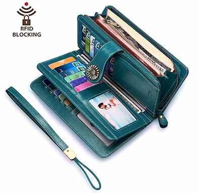 Women wallet RFID Blocking. Useful Travel Accessories for Women in 2019