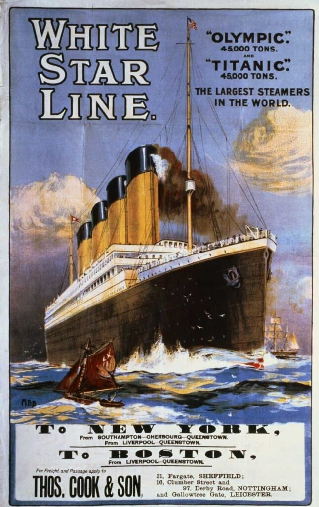 White Star Line - History of Steamboats Advertising 1890-1930