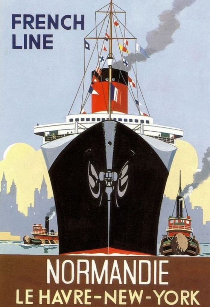 Normandy French Line - History of Steamboats Advertising 1890-1930