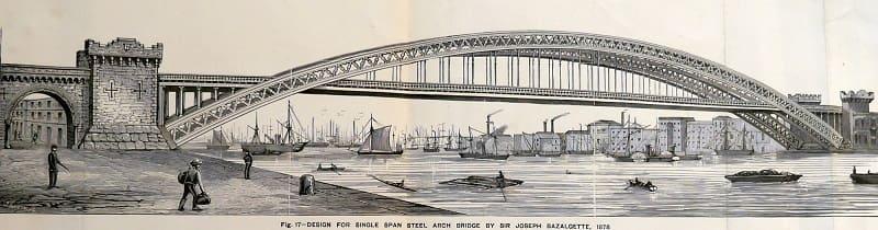 tower bridge - London 125th opening - Original Design - Sir Joseph Bazalgette