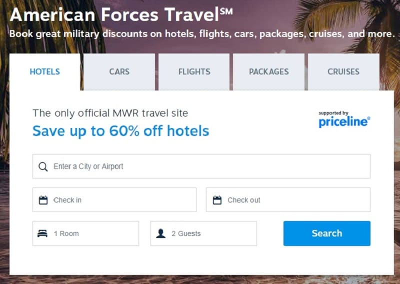 Book travel: American Forces Travel Defense