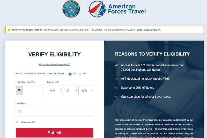 AFT ; Flights, Cruises, Car Rental, Hotels - Defense Travel System