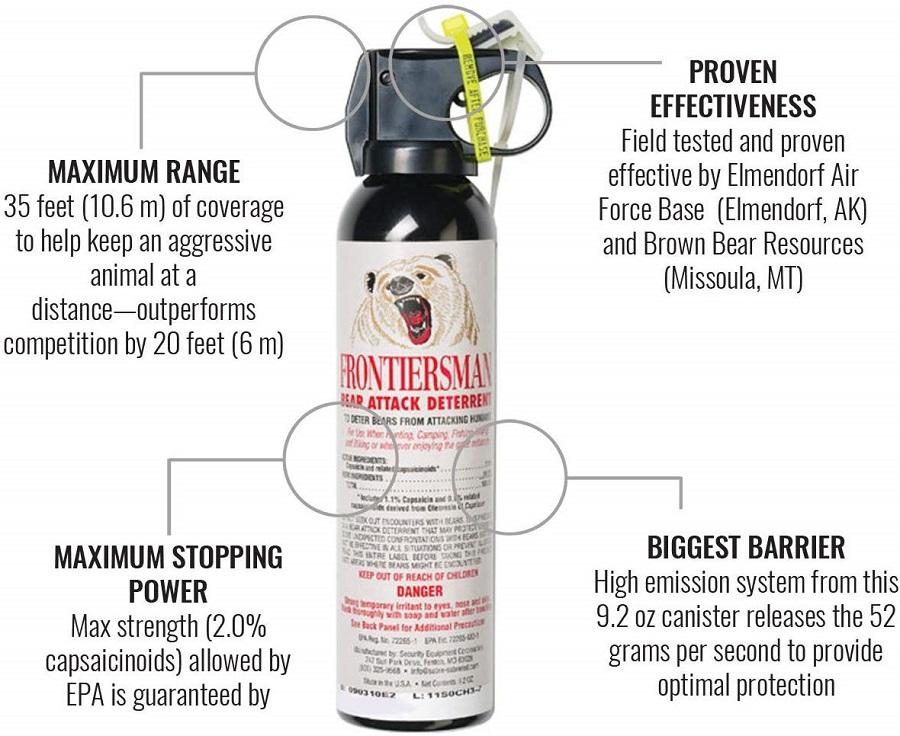Bear pepper spray - travel gadgets 2021 =Camping - Bear Pepper Spay SABRE Frontiersman Bear Spray 9.2 oz (Holster Options & Multi-Pack Options) — Maximum Strength, Maximum Range & Greatest Protective