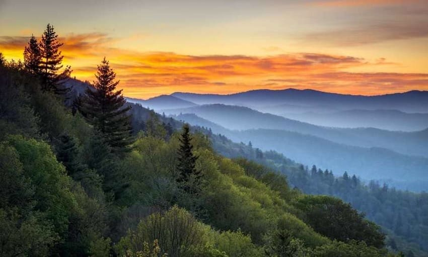 Great Smoky Mountains:The most popular National Park in the US Water and the exudation of trees create that kind of fog that gives its name to the most popular mountains in the United States. The Smoky Mountains National Park is the most visited in the country, with eleven million tourists