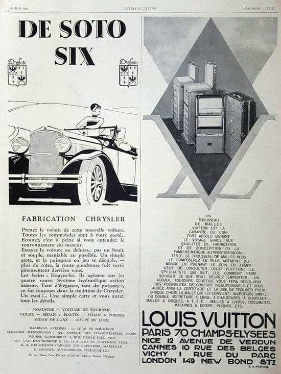 Paris 70 Champselysees louis Vuitton Vintage Poster