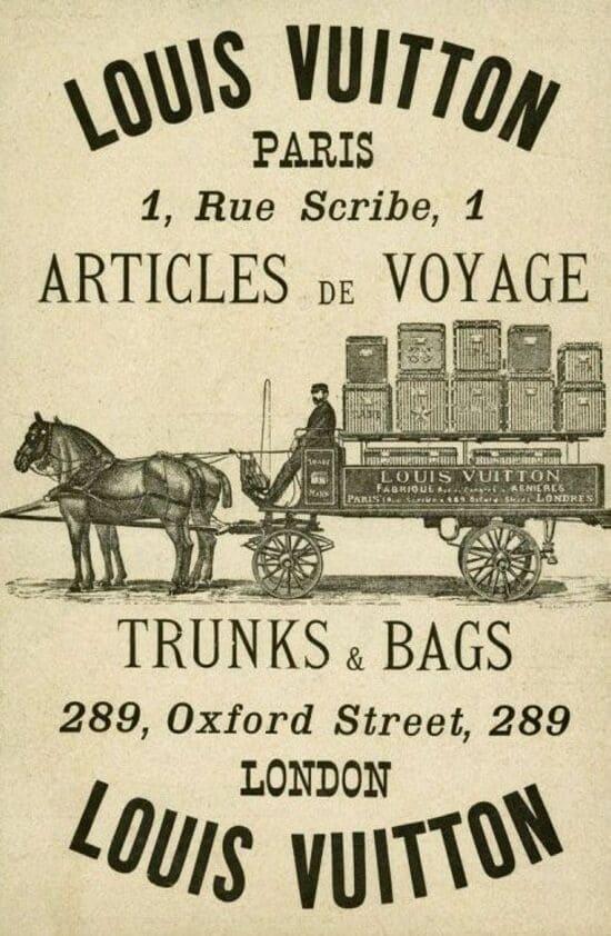 Rue Scribe 1 Paris France Poster Vintage - History of Louis Vuitton