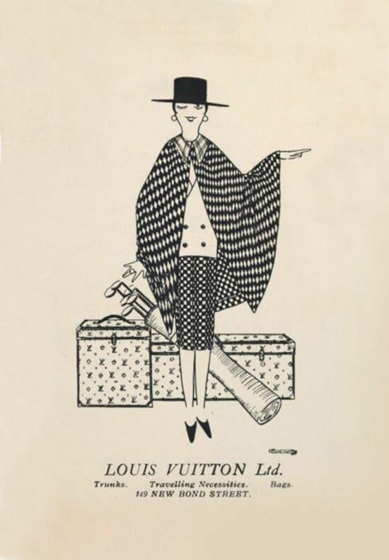 Louis Vuitton UK Bond Street Poster Vintage