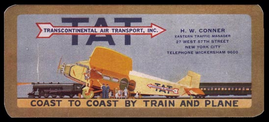 Transcontinental Air Transport - US History of Tourism