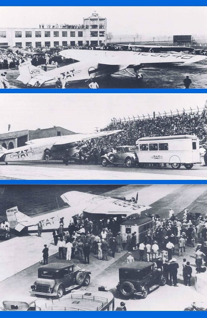 Columbus Airport - Transcontinental Air Transport - First Coast to Coast Flight - US History of Tourism - indbergh Line
