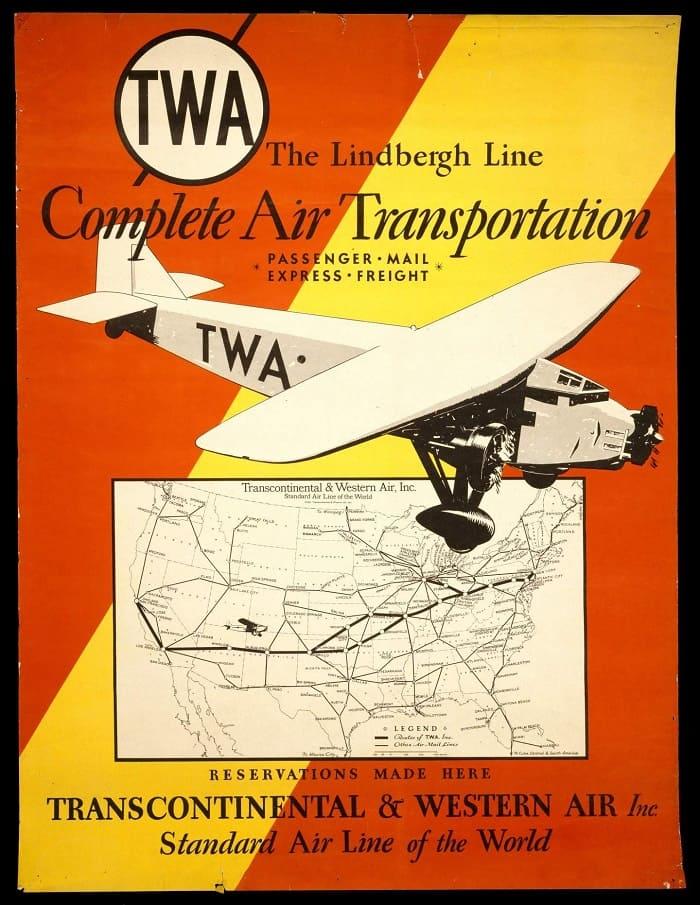 US History of Tourism - TAT - Lindbergh Line - Ford Tri-Motor T