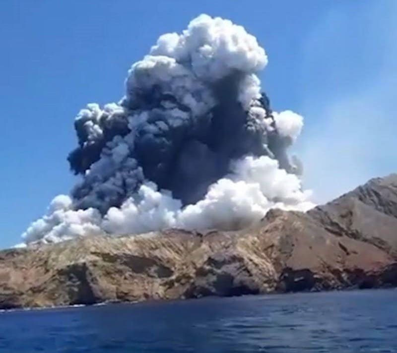 New Zealand Volcano Eruption. White Island