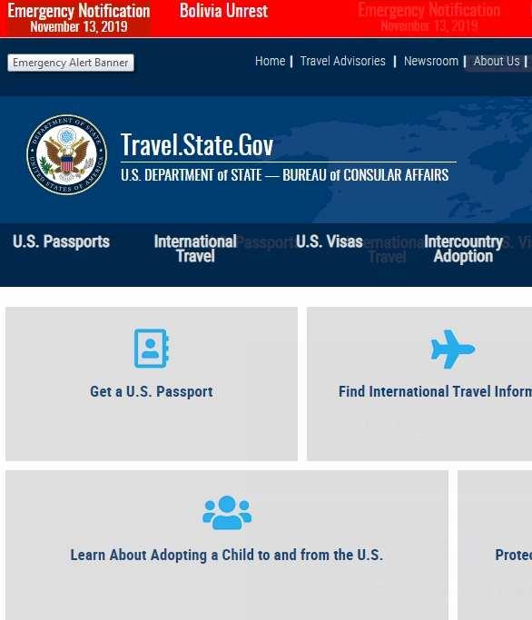 US Department State Travel Advisory