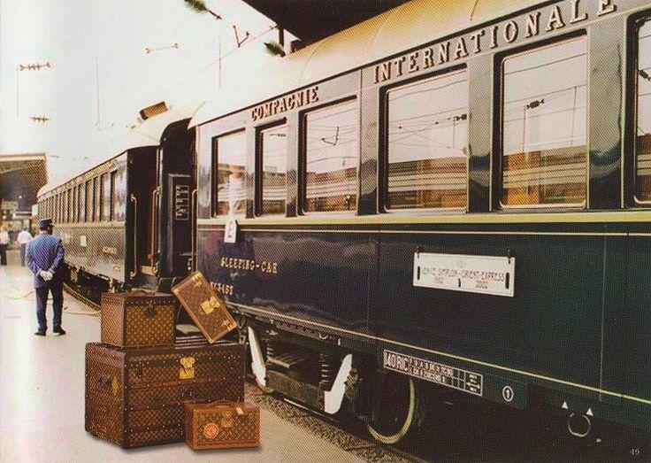 Louis Vuitton Vintage trunks on Railroad