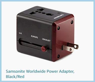 Luggage Samsonite Worldwide adapter