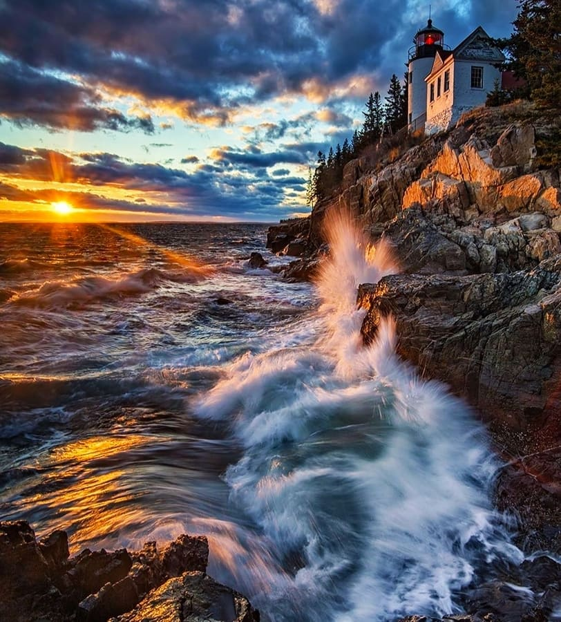 #Acadia U.S. National Park - #Maine - East of the Mississippi River, off the Atlantic coast of Maine, lies Acadia National Park. It is home to a wide variety of plants and animals, in addition to #Cadillac #Mountain #hiking #trekking #outdoor #DIY #Beach #NPS #photo #love