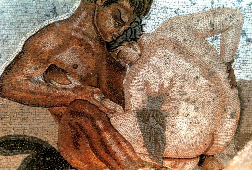 House of the Fauno -satyr and nymph-Pompeii -Erotic Pompeii
