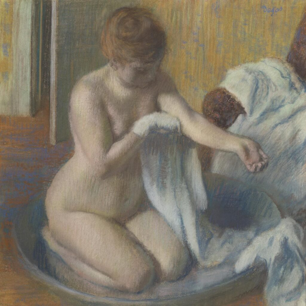 Woman in a Tub - Edgar Degas - 1883. -Nude Artworks on Tate Museum - London - UK