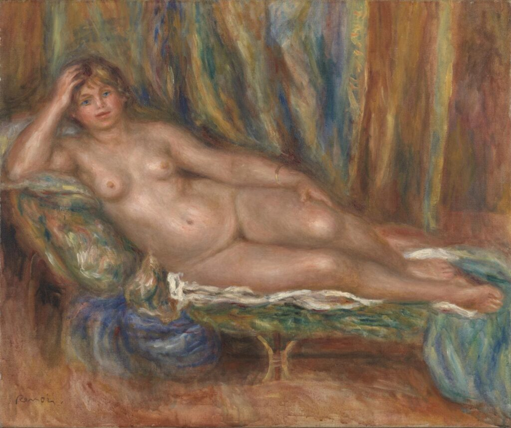 Nude on a Couch -Auguste Renoir - 1915 =Nude Artworks on Tate Museum - London - UK