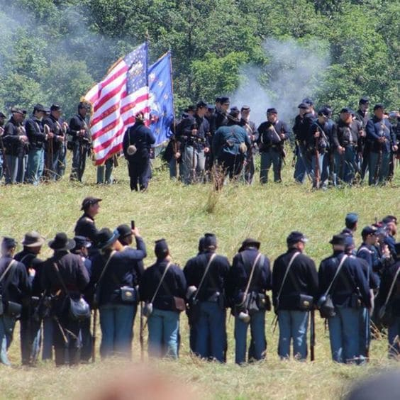 Gettysburg National Military Park Reenactment - Following Ewell's further failure to take Culp's Hill, one of the largest and most memorable disasters in American military history will take place: The Pickett Charge. (View National Park Service )