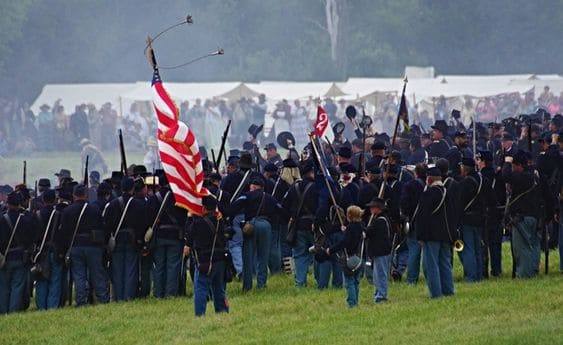Gettysburg National Military Park Reenactment -We visited #Gettysburg National Military Park ( National Park service). Here are the fields where one of the most important #battles of the American Civil #War was fought.