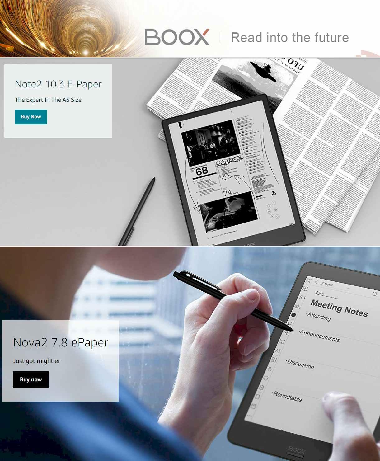 Onyx boox eReaders 2021 -eReaders - eInk - Digital Papers