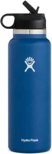 Hydro Flask Water Bottle - Wide Mouth Straw Lid 2.0 - Multiple Sizes & Colors - outdoor2021