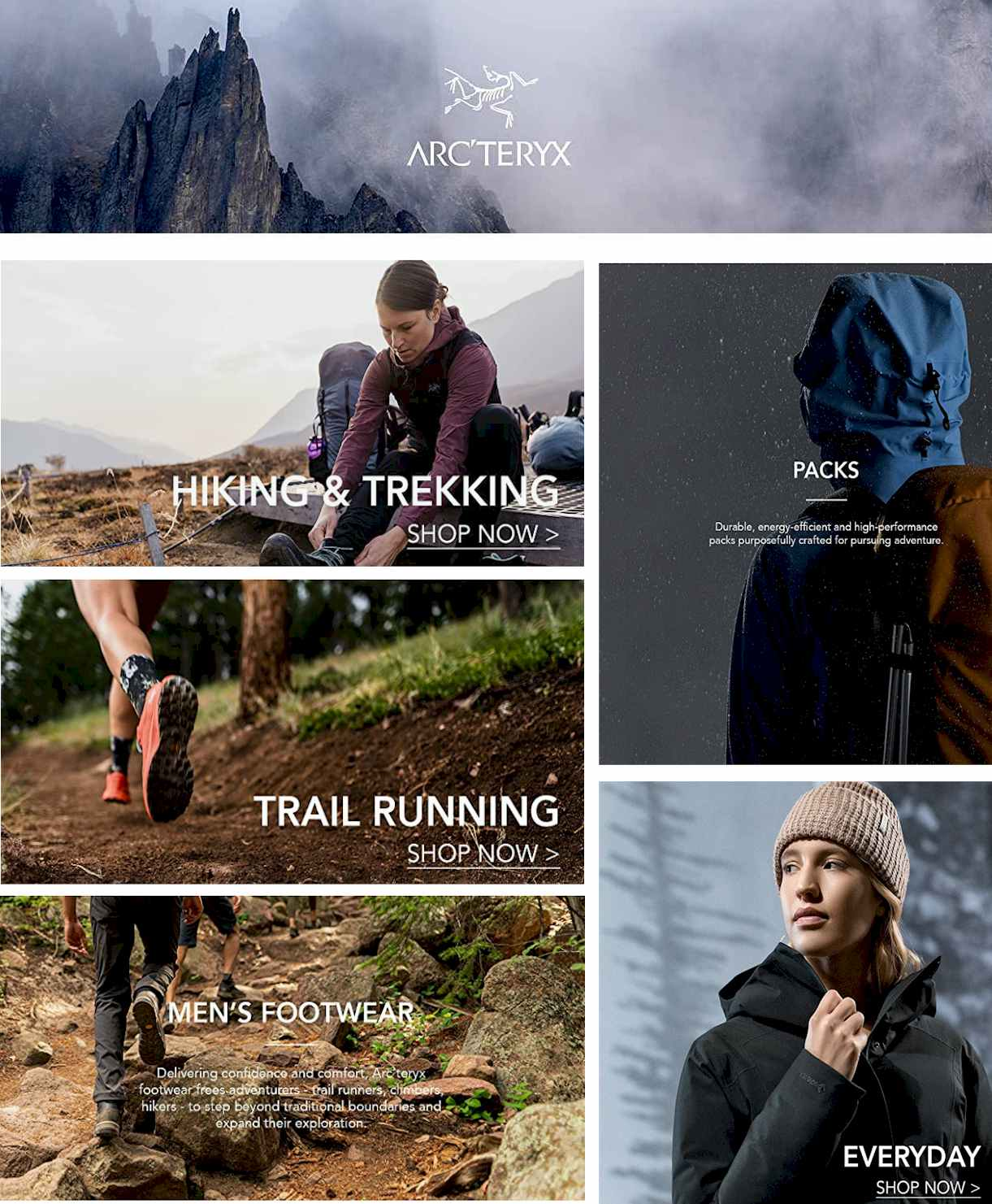 #Arc'teryx sport wear - #hiking #Trekking #casual #Outdoor #camping #Woman