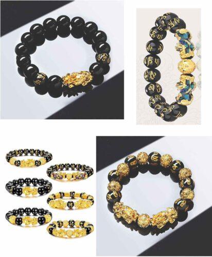 Feng Shui Black Obsidian Wealth Bracelet - - Amazon USA Best Sellers 2022