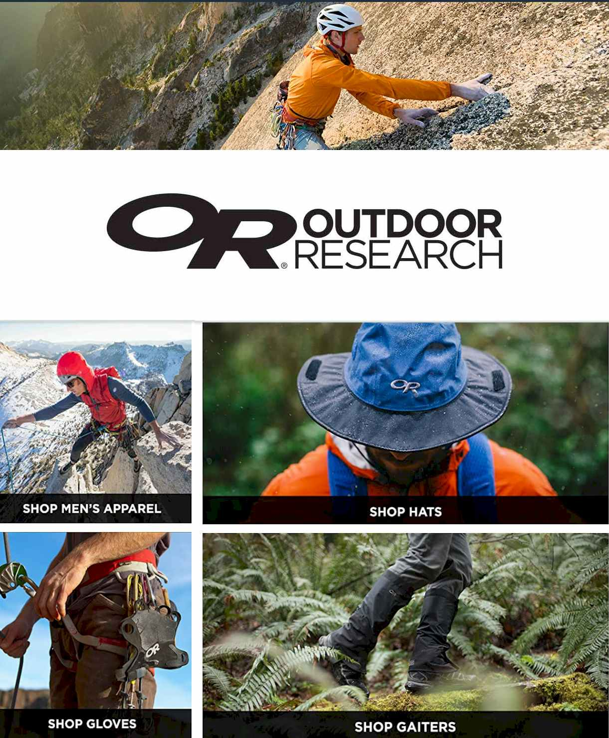 Outdoor Research Store on Amazon