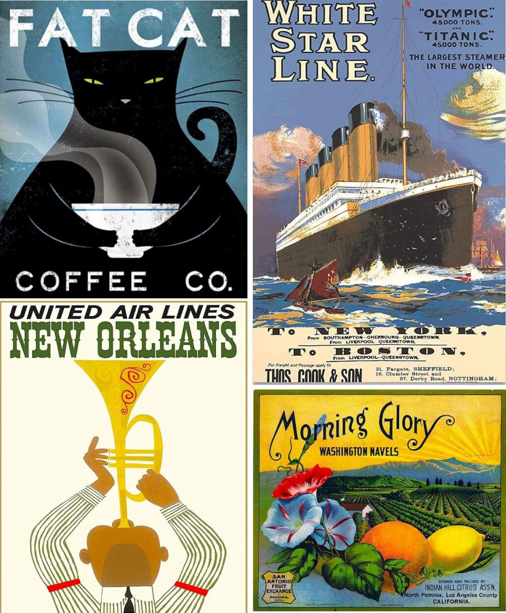 Vintage poster ads - Best Products 2021 on Amazon