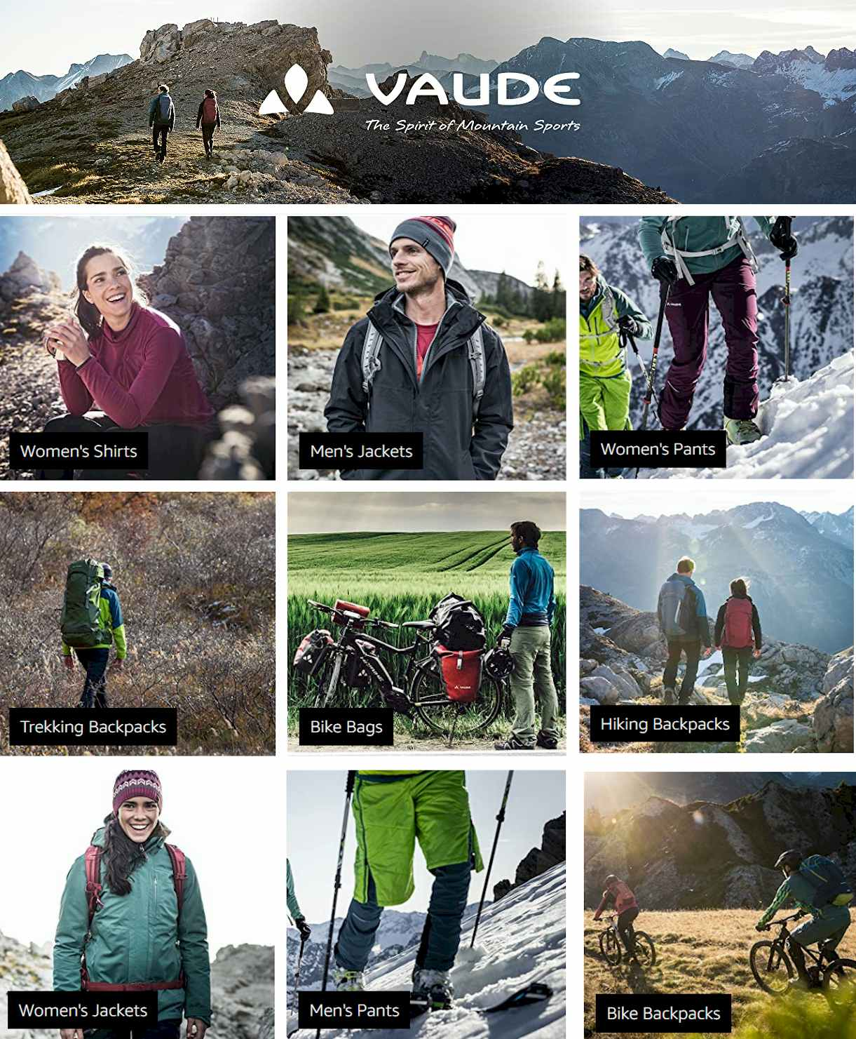 #VAUDE sport wear - #hiking #Trekking #casual #Outdoor #camping #Woman