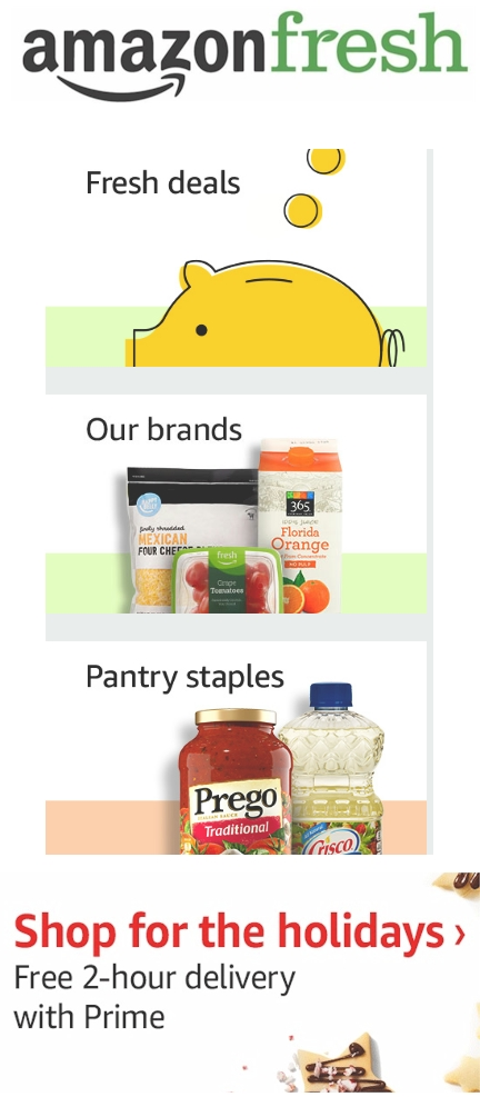 """Fresh Past Purchases Deals Alexa lists #Food #Beverages #House hold Personal Care, Health & Beauty Baby #Pets FreshLocal & Seasonal """"amazonfresh #christmas"""