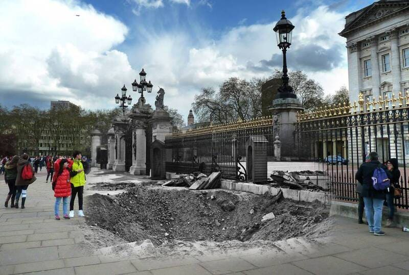 London Photos 75 Years Later - Buckingham Palace