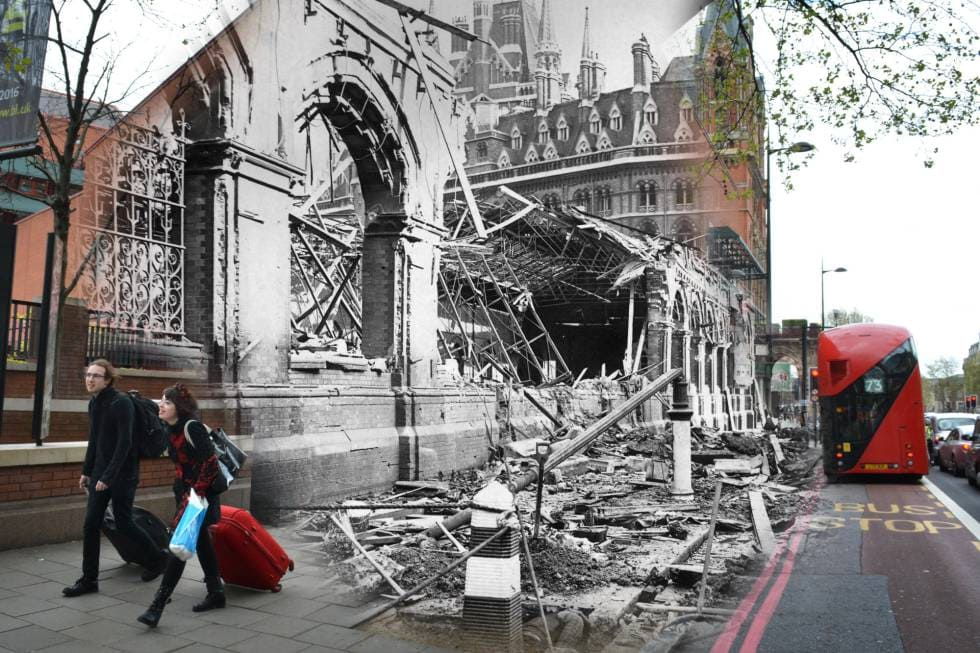 St Pancras - King Cross station - What was London Like in 1940?