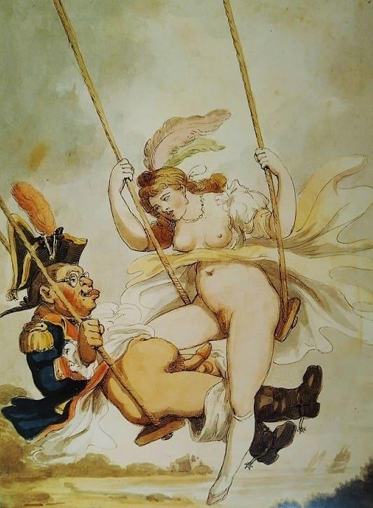 Thomas Rowlandson Erotic Draws - In the Swing)' (18th century)