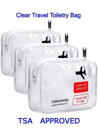 PreCheck TSA 2021 Toiletry Clear Bag